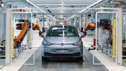 Der VW ID.3 rollt in Zwickau vom Band.