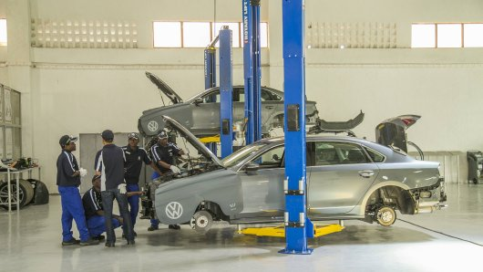 Das VW-Werk in Ruandas Hauptstadt Kigali.