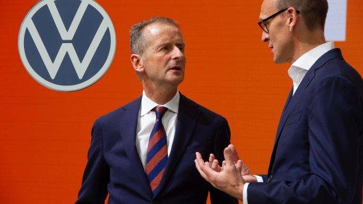 VW-Chef Herbert Diess und Markenchef Rald Brandstätter sind sich nicht immer eins...  (Archivbild)
