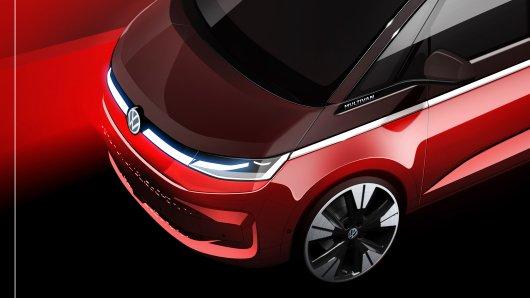 VW bringt den neuen T7 an den Start. Jetzt gibt es erste Skizzen des neuen Multivans!