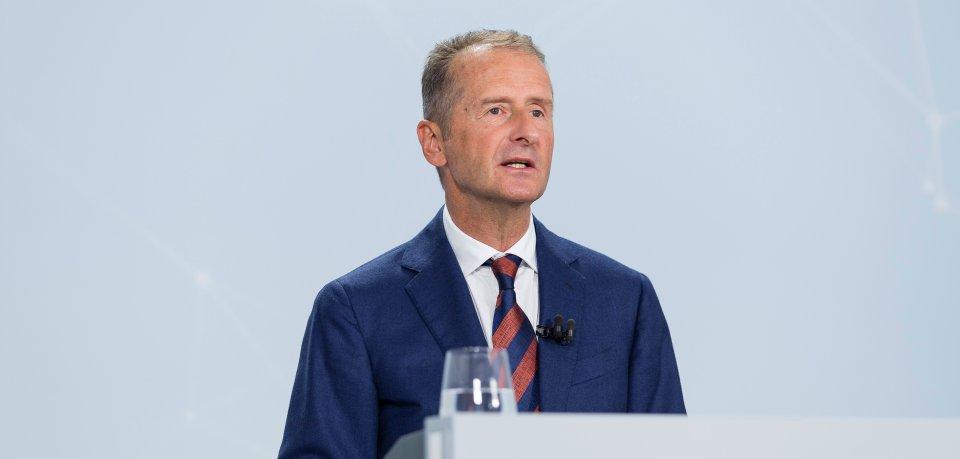 VW-Boss Herbert Diess stört sich an einer Sache gewaltig. (Archivbild)
