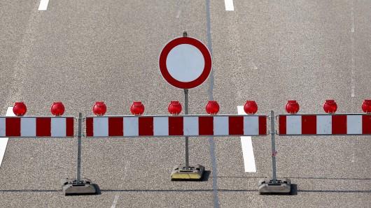 Auf der A7 wird gebaut. (Symbolbild)