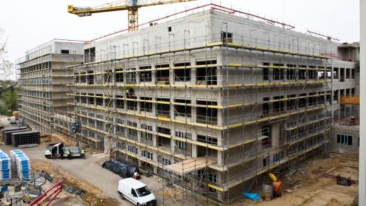 Neubau im Zuge des Zwei-Standorte-Konzeptes: Am Klinikum-Standort Salzdahlumer Straße entsteht ein neues Bettenhaus.