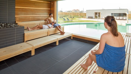 Die Saunawelt in der Braunschweiger Wasserwelt.