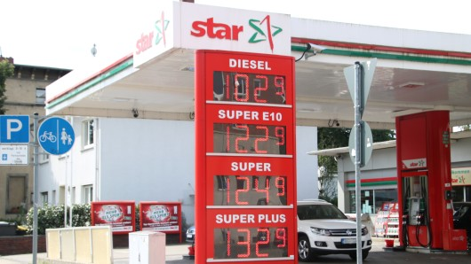 Die Preise für Benzin und Diesel an der Star Tankstelle Wolfenbütteler Straße in Braunschweig am 5. August 2016.