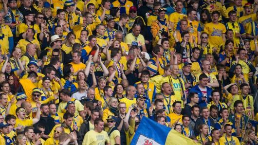 Die blau-gelbe Wand. (Archivbild)