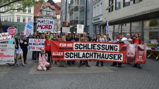 Schon 2017 gab es den Braunschweiger Marsch zur Schließung aller Schlachthäuser.
