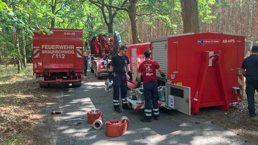 Sind jetzt wieder zuhause: Die Einsatzkräfte der Feuerwehr Braunschweig.