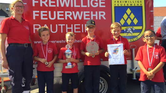 We are the Champions: Die Kinderfeuerwehrgruppe Lamme 1 schnappte sich den Sieg.