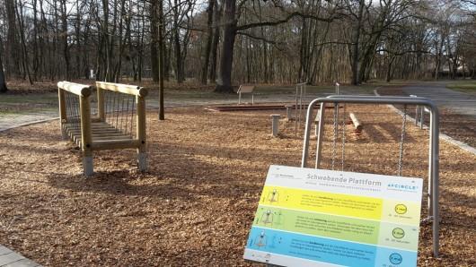 Die Schwebende Plattform im Prinzenpark.