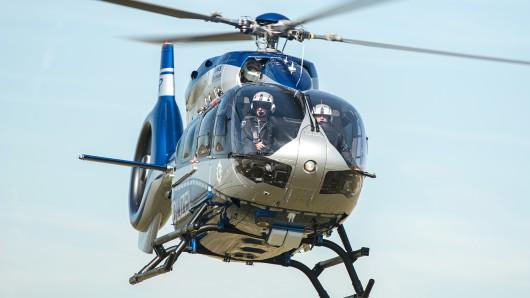 Ein Hubschrauber der Polizei war über Lebenstedt in Salzgitter im Einsatz. (Symbolbild)