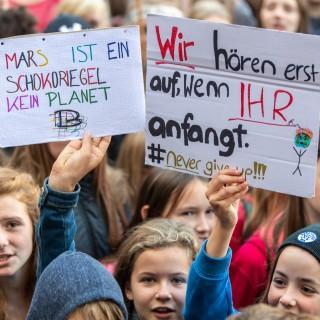Die Demonstranten folgen dem Aufruf der Bewegung Fridays for Future und wollen für mehr Klimaschutz kämpfen.
