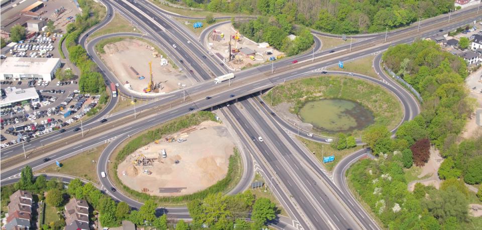 Das Autobahnkreuz Braunschweig-Süd wird bis 2024 zur Dauerbaustelle.