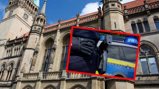 Polizeieinsatz am Rathaus in Braunschweig! (Symbolbild)