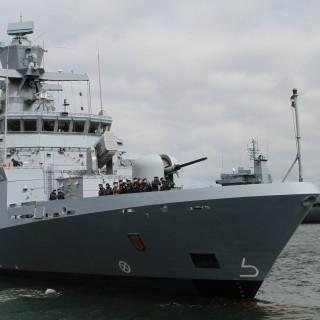 """Die """"Braunschweig"""" ist seit 2008 in der deutschen See im Einsatz. (Archivfoto)"""
