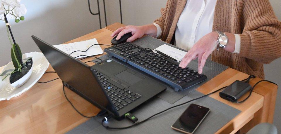 Eine Frau aus Braunschweig hat ein Online-Bewerbungsgespräch – es es gibt ein Problem. (Symbolbild)