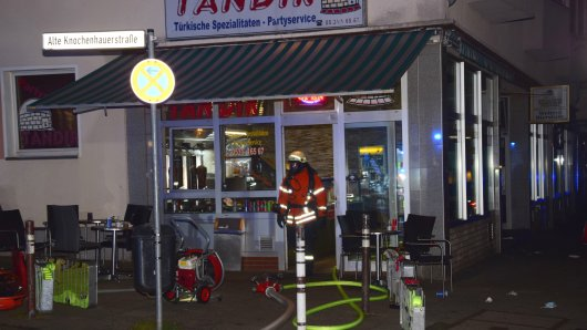 In Braunschweig brach in einem türkischen Imbiss ein Feuer aus.