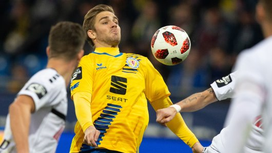 Der blau-gelbe Hoffnungsträger: Christoffer Nyman bei seinem Comeback gegen Uerdingen.