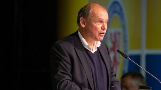 Eintracht-Präsident Sebastian Ebel während der Jahreshauptversammlung von Eintracht Braunschweig.