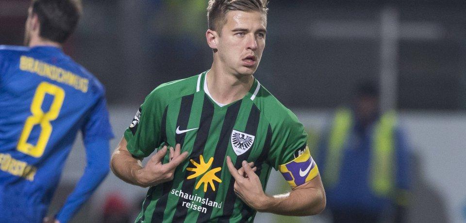 Münsters Martin Kobylanski traf auch gegen Eintracht Braunschweig – jetzt geht er für  den BTSV auf Torejagd.