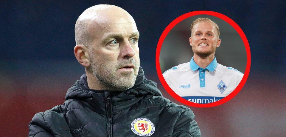 Marco Antwerpen und Eintracht Braunschweig sind am Sonntag bei Marcel Seegert und Waldhof Mannheim zu Gast.