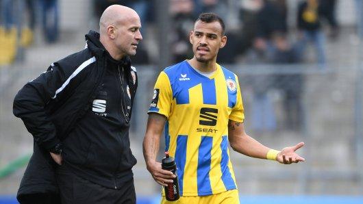 Trainer Marco Antwerpen und Steffen Nkansah