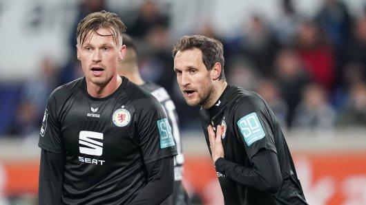 Eintracht Braunschweig muss wochenlang auf Stephan Fürstner (re.) verzichten.