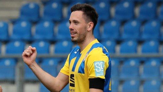 Eintracht Braunschweig: Marcel Bär traf gegen Viktoria Köln gleich doppelt.