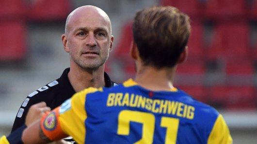 Eintracht Braunschweig: Trainer Marco Antwerpen sah nach dem Sieg gegen Preußen Münster Redebedarf.