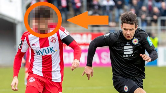 Fabio Kaufmann soll angeblich kurz vor einem Wechsel zu Eintracht Braunschweig stehen. Hier sieht man den Ex-Würzburger im Duell mit Braunschweigs Niko Kijewski.