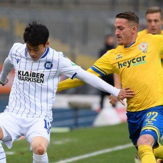Braunschweig kämpft zu Hause gegen Karlsruhe um Punkte.
