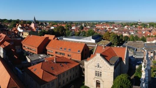 Helmstedt mal anders: Panoramablick auf die Stadt vom Juleumsturm aus.