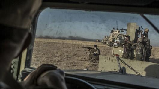 Peschmerga-Kämpfer südöstlich von Mossul. (Archivbild)
