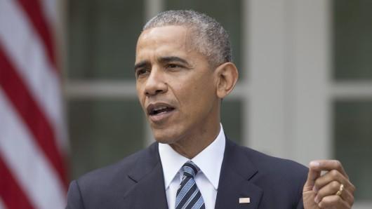 Barack Obama bei seiner Rede am 9. November.