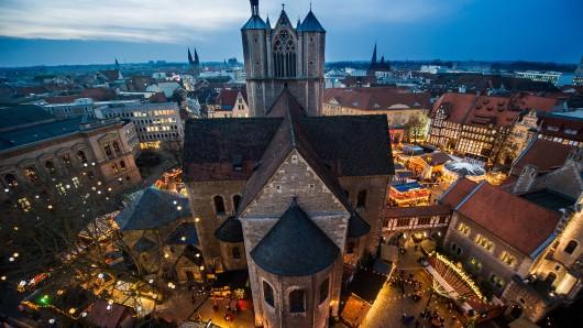 Der Braunschweiger Weihnachtsmarkt. (Archivbild)