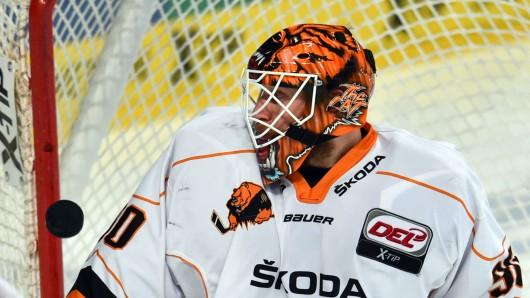 Grizzly-Goalie Felix Brückmann. (Archivbild)