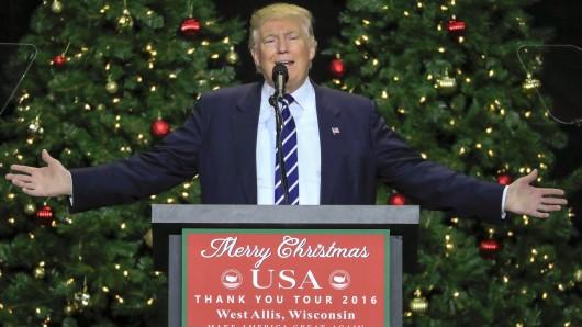 Donald Trump bei einem Auftritt im US-Bundesstaat Wisconsin. (Archivbild)