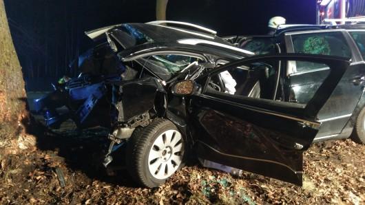 Das Unfallauto ist komplett schrott.
