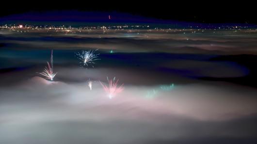 Trübe Aussichten für Silvester: Der Himmel soll bedeckt bleiben.
