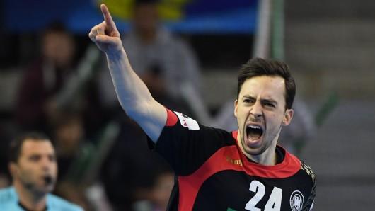 Deutschlands Patrick Groetzki im Spiel gegen Weißrussland.