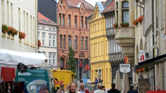 Die Innenstadt Helmstedts.