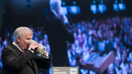 CSU-Chef Horst Seehofer beim politischen Aschermittwoch. (Archiv)