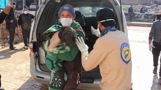 Ein von der Syria Civil Defence veröffentlichtes direkt nach der Giftgas-Attacke.