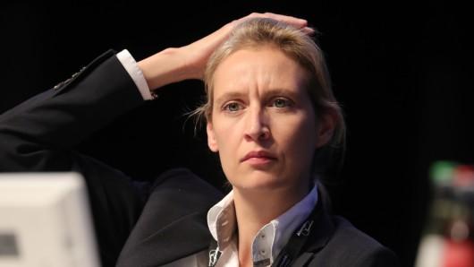 Ohne Kopftuch: Die AfD-Spitzenkandidatin für die Bundestagswahl, Alice Weidel.