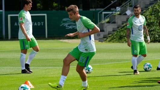 Wolfsburgs Robin Knoche beim VfL-Training.