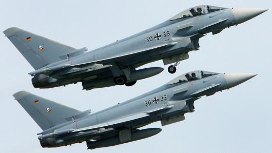 Zwei Eurofighter waren im Einsatz. (Archivbild)