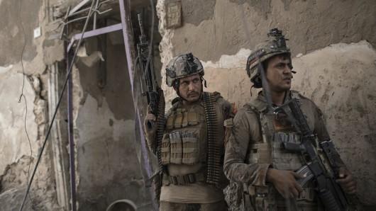 Irakische Soldaten in Mossul. (Archivbild)