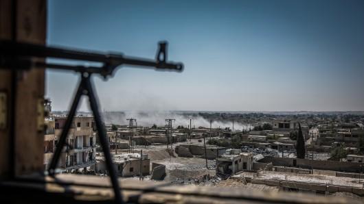 Ein Kampfgebiet in Syrien.