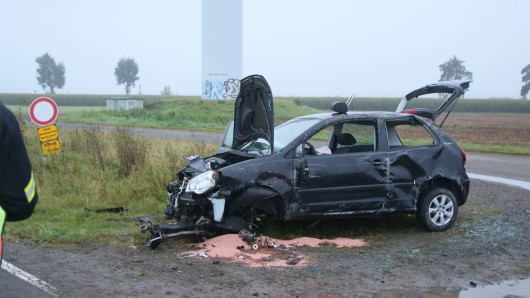Schwerer Unfall am Montagmorgen auf der Broistedter Straße.