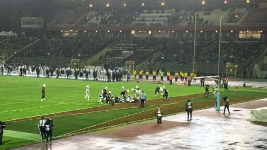 Im Kampf um den German Bowl: Die New Yorker Lions gegen die Schwäbisch Hall Unicorns.